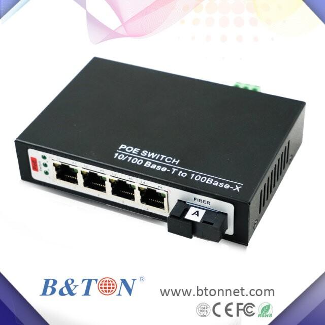 4口POE光纤交换机