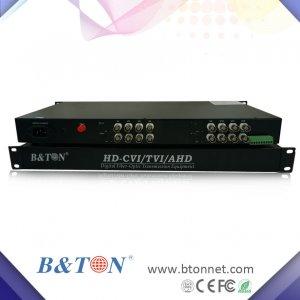 16路HD-TVI/CVI/AHD同轴高清光端机